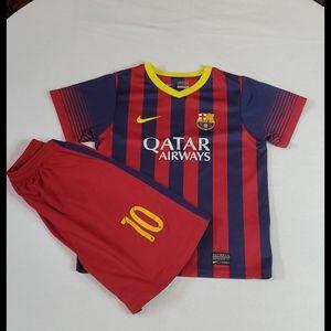 Barcelona FCB young boys shirt and shorts